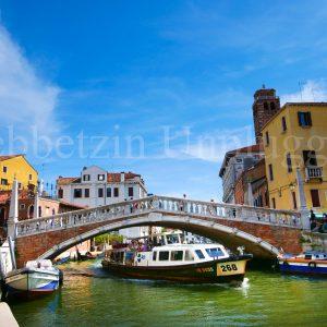 Sample Vaporetto Passing Under Guglie Bridge