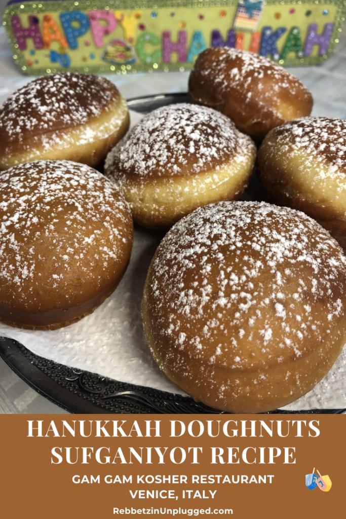 Hanukkah Doughnuts Sufganiyot Recipe Pin