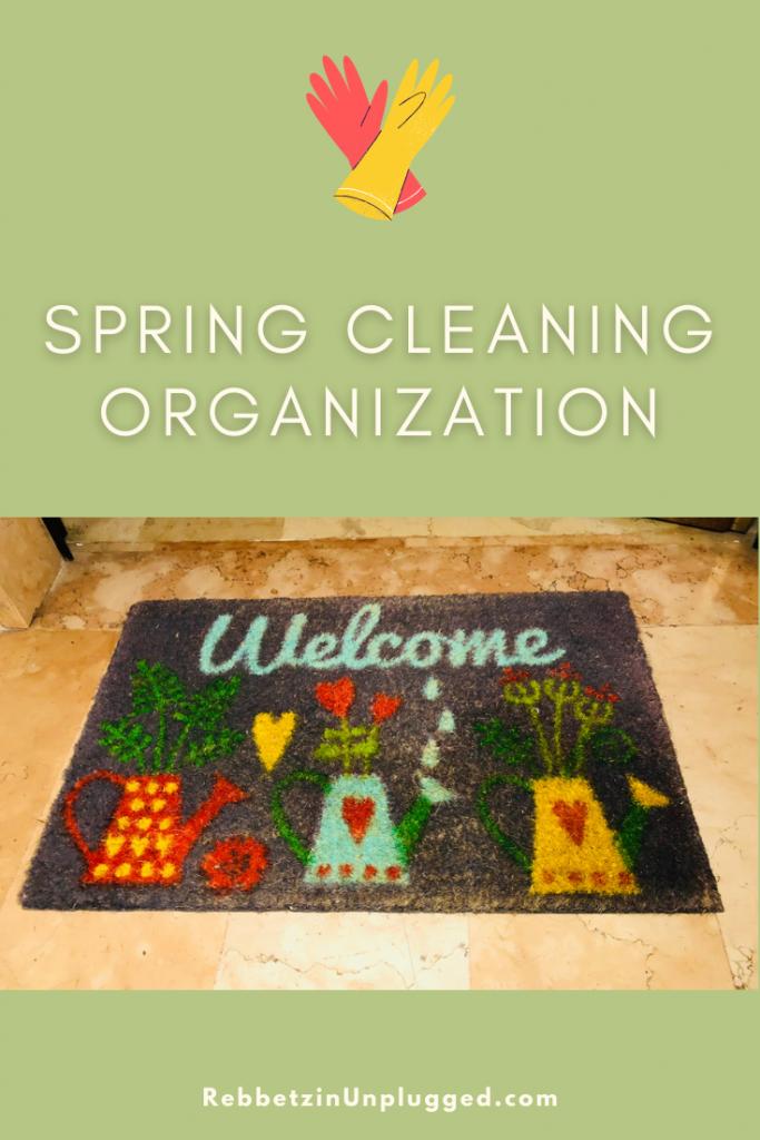 Pinterest Pin Spring Cleaning Organization